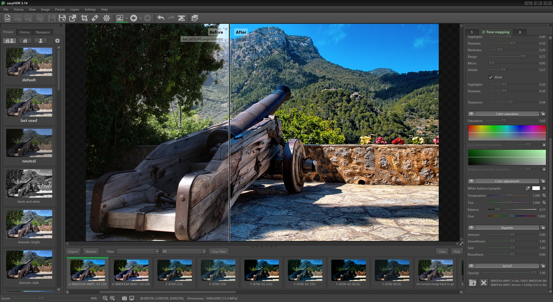Click to view easyHDR 3.14 screenshot