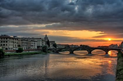 HDR photo, Arno river in Florence