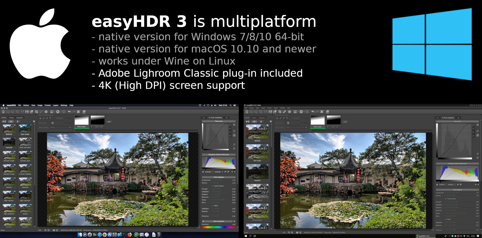 HDR software for Windows, macOS and Linux